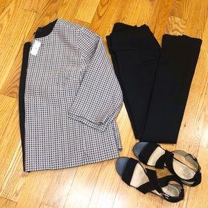 NEW!Talbots Women Back and White Jacket/Blazer NWT